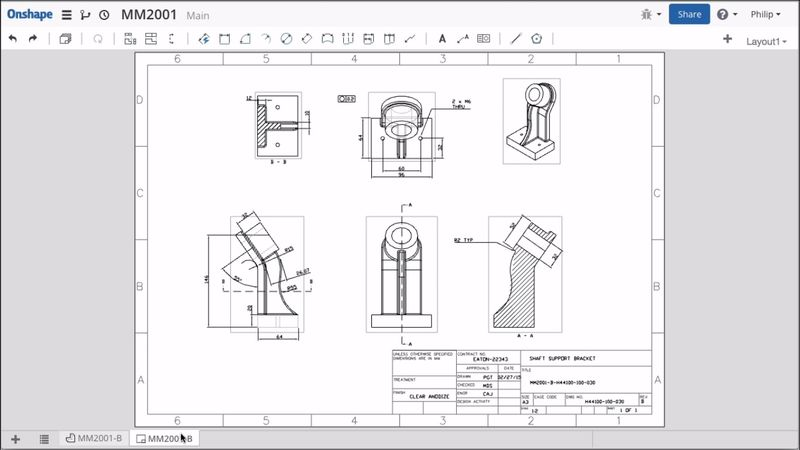 10 things to know about onshape drafting worldcad access for Turbocad drawing template