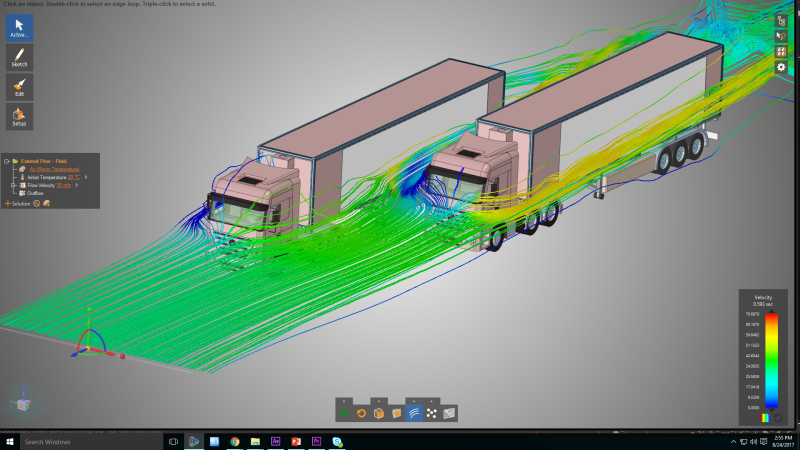 ANSYS Discovery Live external fluid flow truck