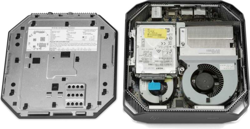 HP Z2 Mini Workstation_internal look